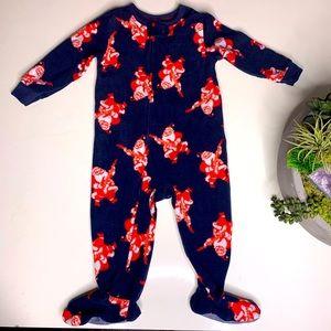 Osh'Gosh Rock and Roll Santa Footed Pajama Onesie